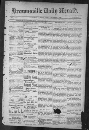 Primary view of object titled 'Brownsville Daily Herald (Brownsville, Tex.), Vol. NINE, No. 135, Ed. 1, Friday, December 7, 1900'.