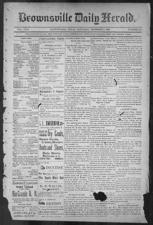 Primary view of object titled 'Brownsville Daily Herald (Brownsville, Tex.), Vol. NINE, No. 136, Ed. 1, Saturday, December 8, 1900'.