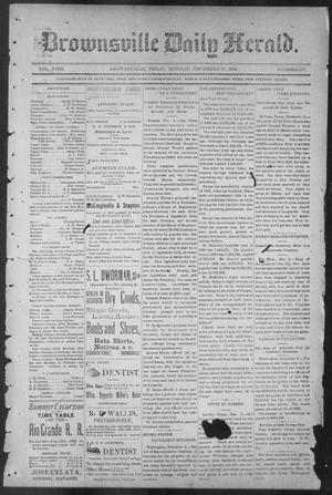 Primary view of object titled 'Brownsville Daily Herald (Brownsville, Tex.), Vol. NINE, No. 137, Ed. 1, Monday, December 10, 1900'.