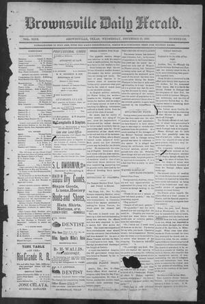 Primary view of object titled 'Brownsville Daily Herald (Brownsville, Tex.), Vol. NINE, No. 139, Ed. 1, Wednesday, December 12, 1900'.