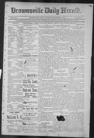 Primary view of Brownsville Daily Herald (Brownsville, Tex.), Vol. NINE, No. 140, Ed. 1, Thursday, December 13, 1900