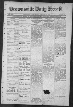 Primary view of object titled 'Brownsville Daily Herald (Brownsville, Tex.), Vol. NINE, No. 141, Ed. 1, Friday, December 14, 1900'.