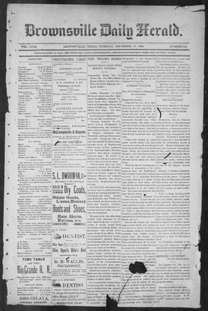 Primary view of object titled 'Brownsville Daily Herald (Brownsville, Tex.), Vol. NINE, No. 144, Ed. 1, Tuesday, December 18, 1900'.