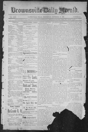 Primary view of object titled 'Brownsville Daily Herald (Brownsville, Tex.), Vol. NINE, No. 145, Ed. 1, Wednesday, December 19, 1900'.
