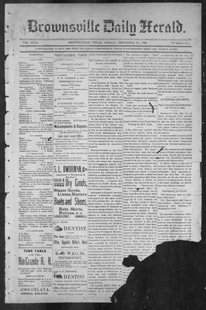 Primary view of object titled 'Brownsville Daily Herald (Brownsville, Tex.), Vol. NINE, No. 147, Ed. 1, Friday, December 21, 1900'.