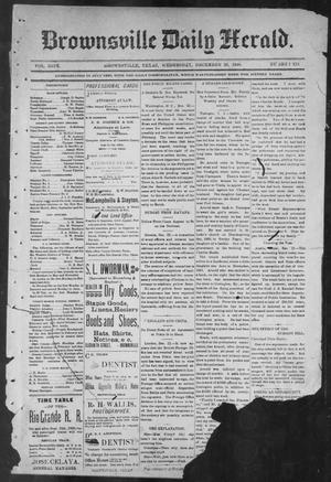 Primary view of object titled 'Brownsville Daily Herald (Brownsville, Tex.), Vol. NINE, No. 150, Ed. 1, Wednesday, December 26, 1900'.