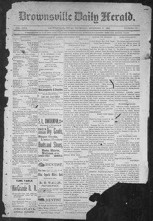 Primary view of object titled 'Brownsville Daily Herald (Brownsville, Tex.), Vol. NINE, No. 151, Ed. 1, Thursday, December 27, 1900'.