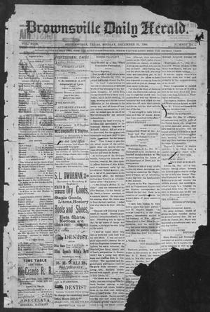 Primary view of object titled 'Brownsville Daily Herald (Brownsville, Tex.), Vol. NINE, No. 154, Ed. 1, Monday, December 31, 1900'.