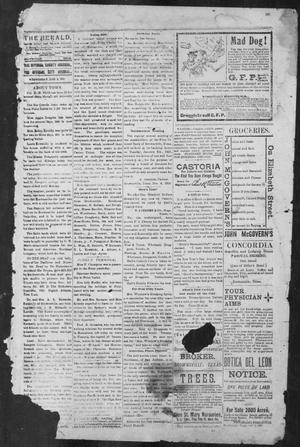 Primary view of object titled 'Brownsville Daily Herald (Brownsville, Tex.), Vol. NINE, No. 155, Ed. 1, Wednesday, January 2, 1901'.