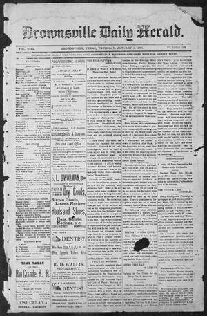 Primary view of object titled 'Brownsville Daily Herald (Brownsville, Tex.), Vol. NINE, No. 156, Ed. 1, Thursday, January 3, 1901'.