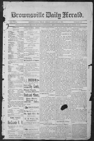 Primary view of object titled 'Brownsville Daily Herald (Brownsville, Tex.), Vol. NINE, No. 157, Ed. 1, Friday, January 4, 1901'.