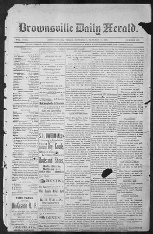 Primary view of object titled 'Brownsville Daily Herald (Brownsville, Tex.), Vol. NINE, No. 158, Ed. 1, Saturday, January 5, 1901'.