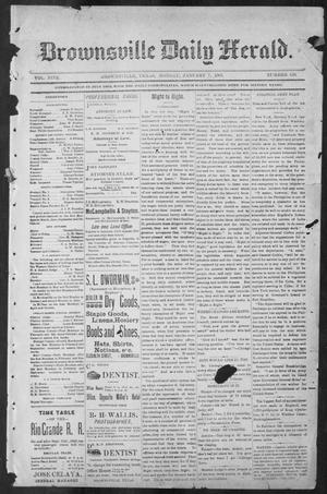 Primary view of object titled 'Brownsville Daily Herald (Brownsville, Tex.), Vol. NINE, No. 159, Ed. 1, Monday, January 7, 1901'.