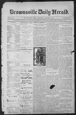 Primary view of object titled 'Brownsville Daily Herald (Brownsville, Tex.), Vol. NINE, No. 160, Ed. 1, Tuesday, January 8, 1901'.