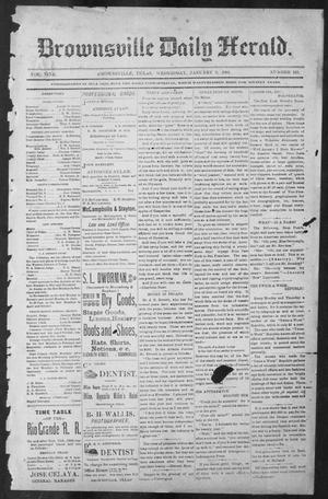 Primary view of object titled 'Brownsville Daily Herald (Brownsville, Tex.), Vol. NINE, No. 161, Ed. 1, Wednesday, January 9, 1901'.