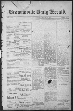 Primary view of object titled 'Brownsville Daily Herald (Brownsville, Tex.), Vol. NINE, No. 163, Ed. 1, Friday, January 11, 1901'.