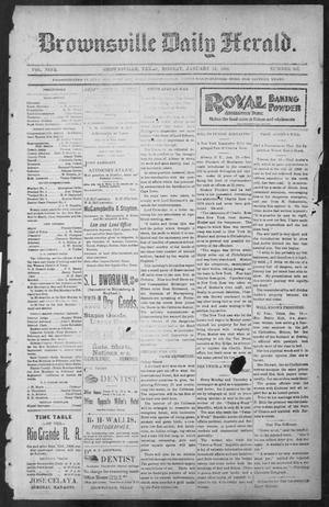 Primary view of object titled 'Brownsville Daily Herald (Brownsville, Tex.), Vol. NINE, No. 165, Ed. 1, Monday, January 14, 1901'.