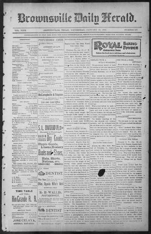Primary view of object titled 'Brownsville Daily Herald (Brownsville, Tex.), Vol. NINE, No. 167, Ed. 1, Wednesday, January 16, 1901'.