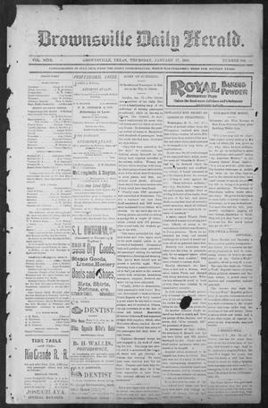 Primary view of object titled 'Brownsville Daily Herald (Brownsville, Tex.), Vol. NINE, No. 168, Ed. 1, Thursday, January 17, 1901'.