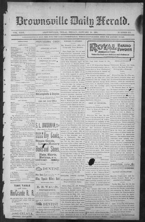 Primary view of object titled 'Brownsville Daily Herald (Brownsville, Tex.), Vol. NINE, No. 169, Ed. 1, Friday, January 18, 1901'.