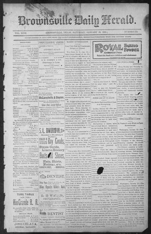 Primary view of object titled 'Brownsville Daily Herald (Brownsville, Tex.), Vol. NINE, No. 170, Ed. 1, Saturday, January 19, 1901'.