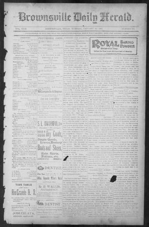 Primary view of object titled 'Brownsville Daily Herald (Brownsville, Tex.), Vol. NINE, No. 172, Ed. 1, Tuesday, January 22, 1901'.