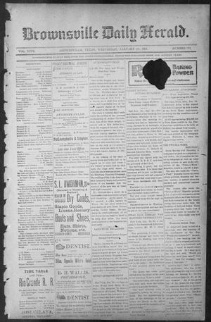 Primary view of object titled 'Brownsville Daily Herald (Brownsville, Tex.), Vol. NINE, No. 173, Ed. 1, Wednesday, January 23, 1901'.