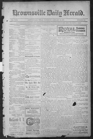 Primary view of object titled 'Brownsville Daily Herald (Brownsville, Tex.), Vol. NINE, No. 176, Ed. 1, Saturday, January 26, 1901'.