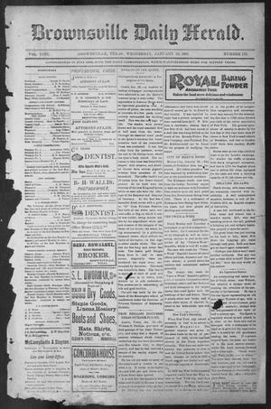 Primary view of object titled 'Brownsville Daily Herald (Brownsville, Tex.), Vol. NINE, No. 179, Ed. 1, Wednesday, January 30, 1901'.