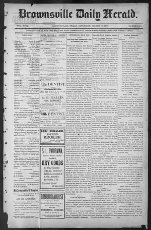 Primary view of object titled 'Brownsville Daily Herald (Brownsville, Tex.), Vol. NINE, No. 212, Ed. 1, Saturday, March 9, 1901'.