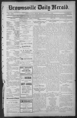Primary view of object titled 'Brownsville Daily Herald (Brownsville, Tex.), Vol. NINE, No. 213, Ed. 1, Monday, March 11, 1901'.