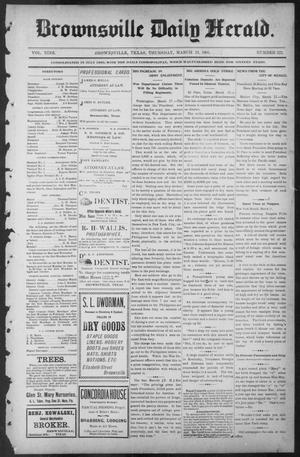 Primary view of object titled 'Brownsville Daily Herald (Brownsville, Tex.), Vol. NINE, No. 222, Ed. 1, Thursday, March 21, 1901'.
