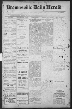 Primary view of object titled 'Brownsville Daily Herald (Brownsville, Tex.), Vol. NINE, No. 231, Ed. 1, Monday, April 1, 1901'.