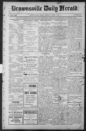 Primary view of object titled 'Brownsville Daily Herald (Brownsville, Tex.), Vol. NINE, No. 232, Ed. 1, Tuesday, April 2, 1901'.