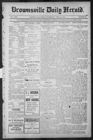 Primary view of object titled 'Brownsville Daily Herald (Brownsville, Tex.), Vol. NINE, No. 239, Ed. 1, Wednesday, April 10, 1901'.