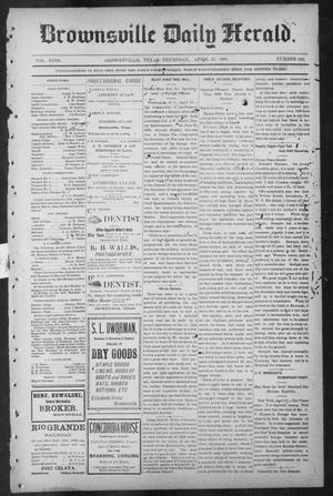 Primary view of object titled 'Brownsville Daily Herald (Brownsville, Tex.), Vol. NINE, No. 246, Ed. 1, Thursday, April 18, 1901'.