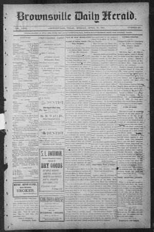 Primary view of object titled 'Brownsville Daily Herald (Brownsville, Tex.), Vol. NINE, No. 255, Ed. 1, Monday, April 29, 1901'.