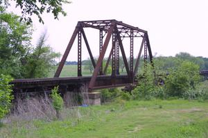Primary view of object titled '[Photograph of Truss Bridge]'.