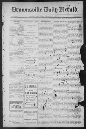 Primary view of object titled 'Brownsville Daily Herald (Brownsville, Tex.), Vol. NINE, No. 257, Ed. 1, Wednesday, May 1, 1901'.
