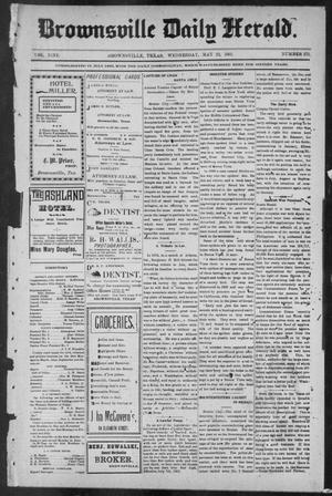 Primary view of object titled 'Brownsville Daily Herald (Brownsville, Tex.), Vol. NINE, No. 275, Ed. 1, Wednesday, May 22, 1901'.