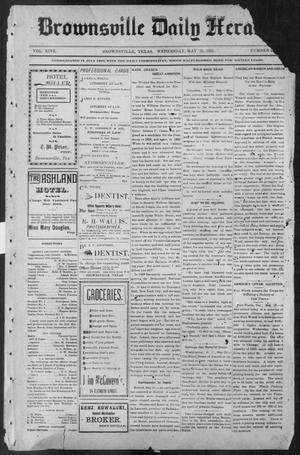 Primary view of object titled 'Brownsville Daily Herald (Brownsville, Tex.), Vol. NINE, No. 281, Ed. 1, Wednesday, May 29, 1901'.