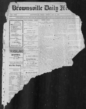 Primary view of object titled 'Brownsville Daily Herald (Brownsville, Tex.), Vol. NINE, No. 283, Ed. 1, Friday, May 31, 1901'.