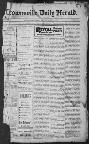 Primary view of object titled 'Brownsville Daily Herald (Brownsville, Tex.), Vol. NINE, No. 239, Ed. 1, Saturday, June 1, 1901'.