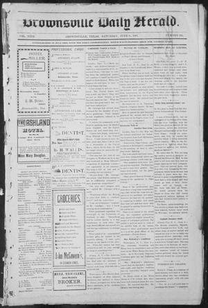 Primary view of object titled 'Brownsville Daily Herald (Brownsville, Tex.), Vol. NINE, No. 245, Ed. 1, Saturday, June 8, 1901'.