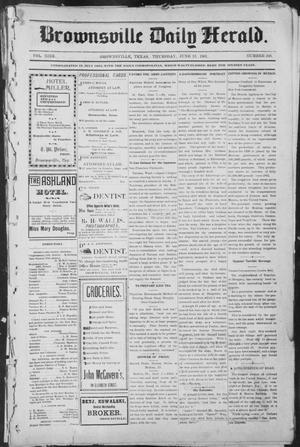 Primary view of object titled 'Brownsville Daily Herald (Brownsville, Tex.), Vol. NINE, No. 249, Ed. 1, Thursday, June 13, 1901'.