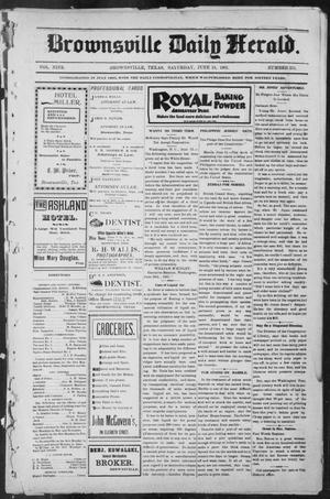 Primary view of object titled 'Brownsville Daily Herald (Brownsville, Tex.), Vol. NINE, No. 251, Ed. 1, Saturday, June 15, 1901'.