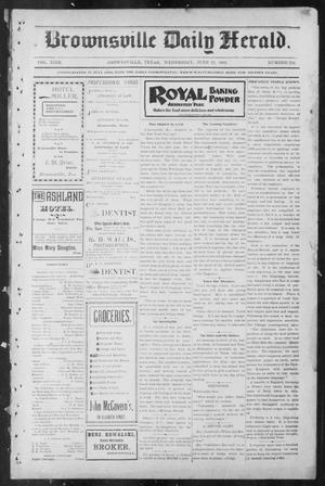 Primary view of object titled 'Brownsville Daily Herald (Brownsville, Tex.), Vol. NINE, No. 254, Ed. 1, Wednesday, June 19, 1901'.