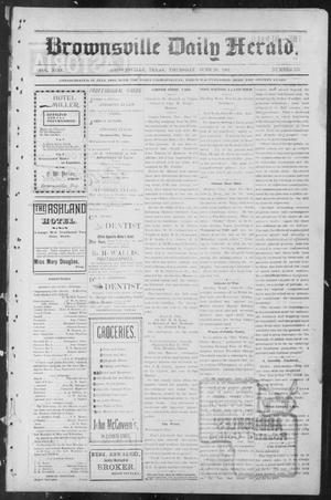 Primary view of object titled 'Brownsville Daily Herald (Brownsville, Tex.), Vol. NINE, No. 255, Ed. 1, Thursday, June 20, 1901'.