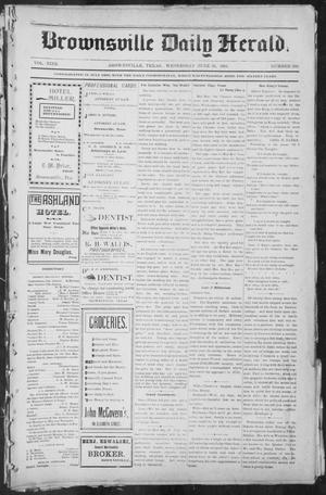 Primary view of object titled 'Brownsville Daily Herald (Brownsville, Tex.), Vol. NINE, No. 260, Ed. 1, Wednesday, June 26, 1901'.