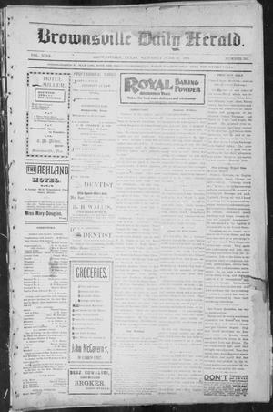 Primary view of object titled 'Brownsville Daily Herald (Brownsville, Tex.), Vol. NINE, No. 263, Ed. 1, Saturday, June 29, 1901'.